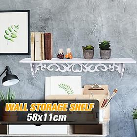 58x11cm Wall Hanging Storage Shelf PVC Board Home Art Decorative Bedroom Home  Bookcases Display Rack