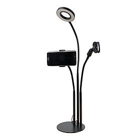 Bộ dụng cụ Livestream có đèn Led, chân đế kẹp Mic cao cấp