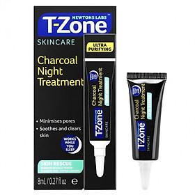 Gel Làm Dịu Da Mụn, Chống Thâm, Se Lỗ Chân Lông T-Zone Charcoal Night Treatment 8ml
