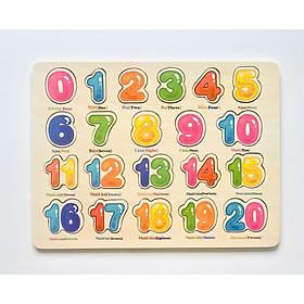 Bảng toán học song ngữ 20 số MK00135