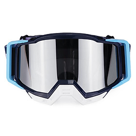 Motorcycle Goggles Motocross Skiing Racing ATV MX Dirt Bike Off Road Eyewear Light Blue T815-191