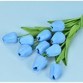 Combo 3 bông hoa Tulip giả để bàn trang trí nội thất [Tặng thanh dũa móng tay ngẫu nhiên]