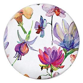 Hình đại diện sản phẩm Gối Ôm Tròn Hoa Dâm Bụt Vẽ - GOHT156