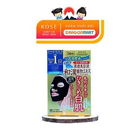 [NHẬT BẢN] Mặt Nạ Trắng Da, Se Khít Lỗ Chân Lông Kosé Cosmeport Clear Turn Black Mask(5 Mặt Nạ/Hộp)