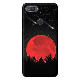 Ốp lưng in cho Xiaomi Mi 8 Lite mẫu Mặt Trăng Đỏ - Hàng chính hãng