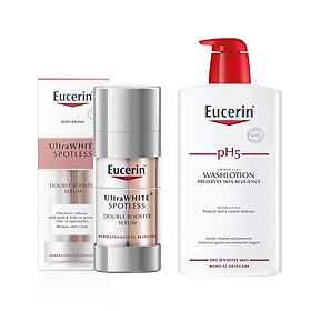 Combo Eucerin Tinh Chất Giảm Thâm Nám UltraWhite Spotless Serum 30ml Và Sữa Tắm, Rửa Mặt Cho Da Nhạy Cảm pH5 Washlotion 1000ml-0