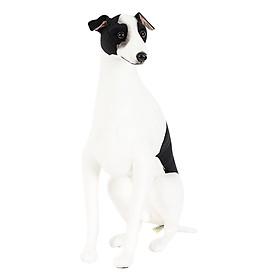 Thú Nhồi Bông My Dog Italian Greyhound Black & White Ngồi