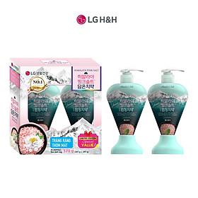 Combo 2 Kem đánh răng dạng vòi Bamboo Himalaya Pink Salt Pumping Ice Calming Mint Hương Bạc Hà Mát Lạnh 285gx2