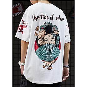 Áo phông unisex nam nữ Geisha Nhật The Tide of online