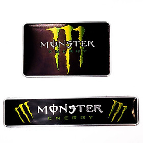 Set 2 sticker metal hình dán - Monster Energy