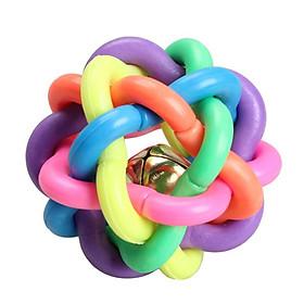 Banh đồ chơi cầu vồng cho thú cưng bóng 7 sắc kẻm chuông đồ chơi cho chó