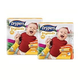 [combo 2 gói] Tã quần Drypers Drypantz M 60 miếng (6 - 12kg)