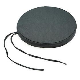 Nệm Ngồi Tròn Soft Decor 4010 Mickey Canvas Round Seat Pad (40 x 40 x 10 cm) - Xám Đen