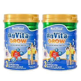 Bộ 2 Lon Sữa Bột NutiFood Nuvita Grow 3+ (900g)