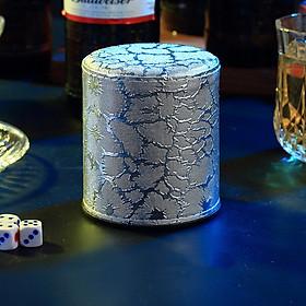 Lắc xí ngầu sang trọng dùng cho quán bar, karaoke kèm 5 viên xí ngầu V.2 (Mẫu ngẫu nhiên)