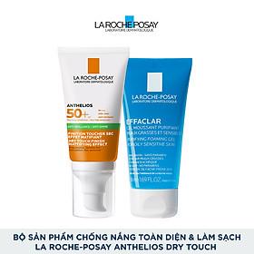 Bộ sản phẩm chống nắng toàn diện và làm sạch La Roche-Posay Anthelios Dry Touch