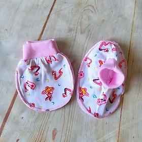 Combo 5 set bao tay bao chân họa tiết ngộ nghĩnh cổ bo bông cho bé sơ sinh (Giao mẫu ngẫu nhiên)