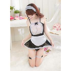 Set đồ ngủ cosplay hầu gái ngọt ngào - Màu đen trắng