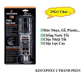 Keo Dán Nhựa Hai Thành Phần SENFINECO 7002 Epoxy  Plastic Bonde 25 Gram/ Chai – HÀNG CHÍNH HÃNG