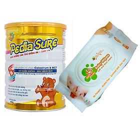 Sữa bột SunBaby dinh dưỡng Pedia Sure giúp trẻ tăng cân, bổ sung dinh dưỡng trên 3 tuổi (900g) Sunbaby SBTC20120- Tặng 1 bịch khăn ướt 100 tờ Sunbaby