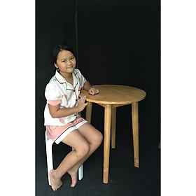 Bàn làm việc, Bàn tròn cafe size 60cm x cao 70cm gỗ cao su AS1016