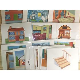 House object Flashcards - Common parts - Thẻ học tiếng Anh chủ đề các phòng và đồ vật thông thường trong nhà - 20 cards