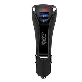Tẩu Sạc Nhanh, Tẩu Sạc Cho Xe Hơi, Ô tô Gear Stick 2 Đầu USB 3.1A -  DT053