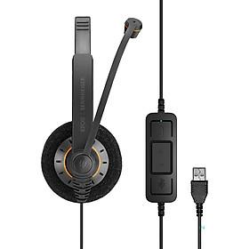 Tai nghe  2 bên tai lọc âm, chống ồn EPOS Sennheiser SC60 USB ML Hàng chính hãng
