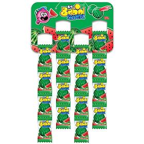 Kẹo Sing Gum Big Babol Shapeez Dưa Hấu dạng dây treo (Gói 4 dây)
