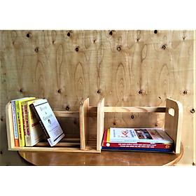 Kệ sách kéo để bàn bằng gỗ (Tự nhiên) AS1016
