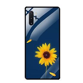 Ốp Lưng Kính Cường Lực cho Samsung Note 10 Plus - 0327 SUNFLOWER06 - Hàng Chính Hãng