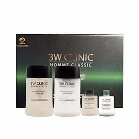 Combo Bộ 2 sản phẩm dưỡng trắng da nam 3W CLINIC Hàn Quốc