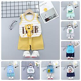 BT35Size80-120 (6-23kg)Bộ thun 3 lỗ cho bé, quần áo sát cánh 100% cottonThời trang trẻ Em