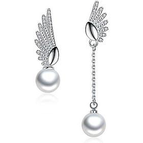Khuyên tai nữ Bạc Hàn 925 cao cấp - Hoa tai ,bông tai cánh thiên thần