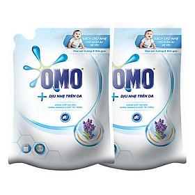 Combo 2 Túi Nước Giặt OMO Matic Dịu Nhẹ Hương Oải Hương Và Sữa Gạo (2.3kg/Túi)