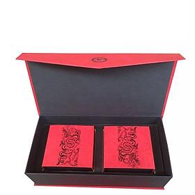 Bộ quà tặng trà ô long thượng hạng - Hộp Trà Olong Long Phụng 200 gram