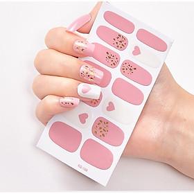 Miếng dán móng tay màu hồng (như hình)