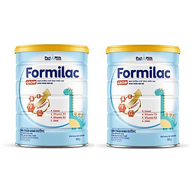 Bộ 2 Lon Sữa bột Formilac GROW (trên 1 tuổi) - 900g