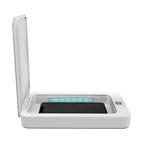 Hộp Đèn Khử Trùng Khẩu Trang/Điện Thoại Bằng Tia UV Với Sạc USB Cho iOS