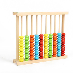 Wooden Abacus Frame Kids Educational Counting Toy for Kids Learning Math Preschool Beads Math Tool Games Student