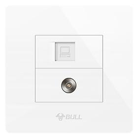Ổ Điện Dán Tường 2 Lỗ Cho TV BULL G07T233