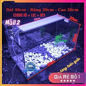 Bể cá mini COMBO ĐẦY ĐỦ dành cho nuôi cá cảnh phong thủy mini