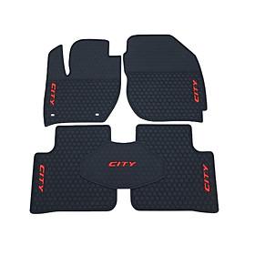 Thảm lót sàn để chân cao su dành cho ô tô Honda City