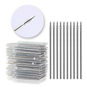 100pcs 18G Piercing Needles Surgical Steel Sterile Disposable Body Piercing Needles for Ear Nose Navel Nipple Makeup