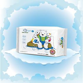 Khăn ướt làm sạch tinh khiết dành cho bé Oma&Baby với công thức Chlorhexidine Digluconate kháng khuẩn an toàn, dịu nhẹ trong khăn ( 85 tờ ) - Oma&Baby premium baby wet wipes ( 85 sheets per package)-0