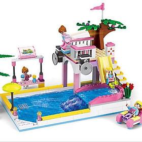 Đồ Chơi Bé Gái Khu vui chơi Công viên Tuổi Thơ 14514  Bằng nhựa ABS an toàn Lego Style