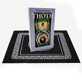 Combo Bộ Bài Bói Tarot Aleister Crowley Thoth Tarot New Cao Cấp và Khăn Trải Bàn Tarot
