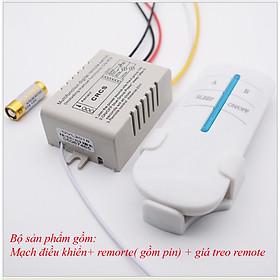 Công tắc điều khiển từ xa RF 2 cổng (2 kênh) bật tắt 2 đèn hoặc 2 hệ thống đèn