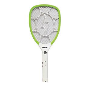 Vợt diệt muỗi cao cấp Roman HMB9007 tích hợp đèn LED an toàn, tiện lợi + Lớp bảo vệ an toàn tránh rò rỉ điện + Thời gian sử dụng dài