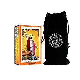 Combo Bộ Bài Tarot The Magician Cao Câp và Túi Nhung Đựng Tarot
